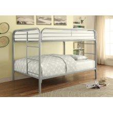 Full / Full Metal Bunk Bed (Silver)