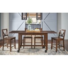 "Aberdeen Rustic Timber Large Gather Height Table (2-16"" Leaves)"
