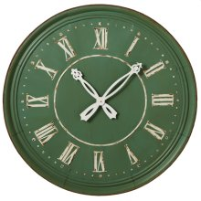 Rusted Sage Round Wall Clock