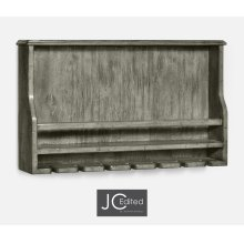 Wall hanging wine rack in antique dark grey