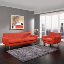 Engage Armchair and Sofa Set of 2 in Atomic Red