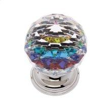Polished Nickel 40 mm Round Prism Knob