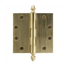 """Plain Bearing Extruded Hinge - 4.5"""" x 4.5"""" Silicon Bronze Brushed"""