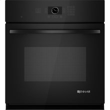 "Single Wall Oven with MultiMode® Convection, 27"", Black Floating Glass w/Handle"