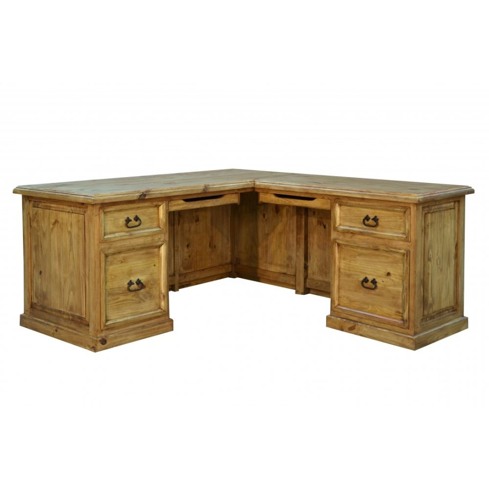 Traditional Taos L-Shaped Desk