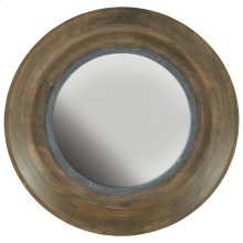 Brown Washed Wood and Iron Mirror