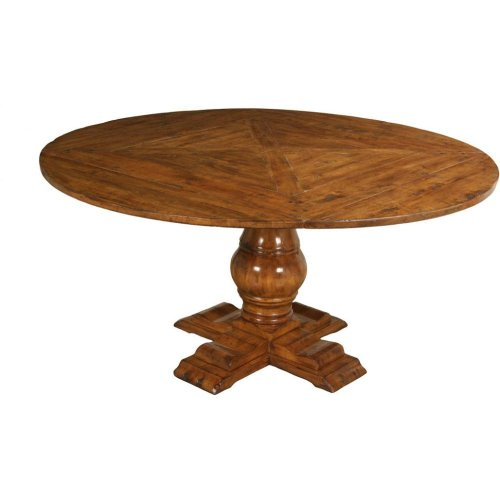 "48"" Round Dining Table Top with Pedestal Base and (4) Side Chairs Set"