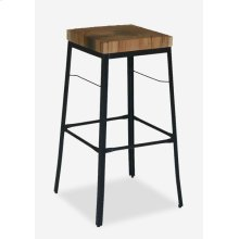 Organic Suar Wood Top Square Barstool MOQ 2 (17x17x29) (package: 2pcs/box) price is per piece