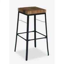 Organic Suar Wood Top Square Barstool MOQ 2 (17x17x29) (package: 2pcs/box) price is per piece