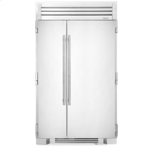 48 Inch Stainless Doors Full Size Refrigerator - - Stainless Solid