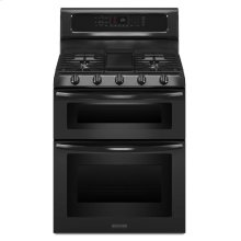 5-Burner Gas Freestanding Double Oven Range, Architect® Series II - Black