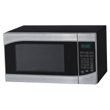 0.9 CF Touch Microwave - Stainless Steel Door Frame with Black Cabinet