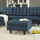Empress Upholstered Fabric Ottoman in Azure Product Image