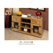 """57"""" TV Stand w/2 drawers, 2 glass doors"""