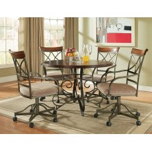 5-Pc. Hamilton Dining Set - (1) 697-413 Dining Table & (4) 697-435 Swivel Arm Chairs
