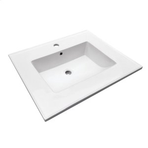 "Hartley 25"" Vanity Top - Single Hole Product Image"