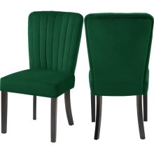"Shelby Velvet Dining Chair - 20.5"" W x 23.5"" D x 39"" H"