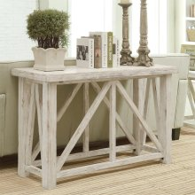 Aberdeen - Sofa Table - Weathered Worn White Finish