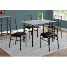 DINING SET - 5PCS SET / GREY / BLACK METAL Product Image