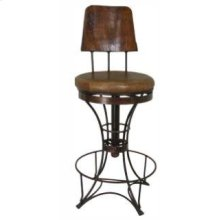 "24"" Swivel Iron Barstool"