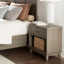 Vogue - One Drawer Nightstand - Gray Wash Finish