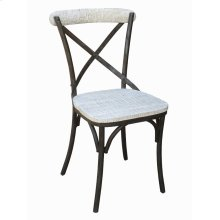 Metal X-back Side Chair-washed White