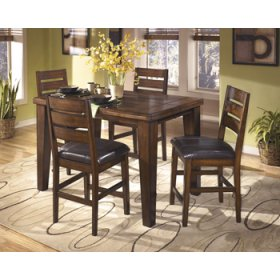 DRM Counter Butterfly EXT TBL with 6 Barstools