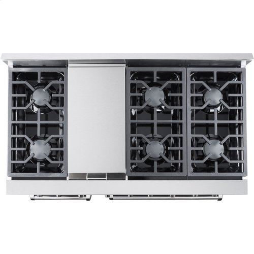 "48"" Professional Style Gas Range in Stainless Steel"