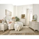 Bella Grigio - Three Drawer Nightstand - Chipped White Finish Product Image