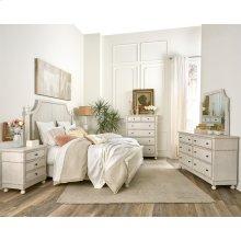 Bella Grigio - Six Drawer Dresser - Chipped White Finish