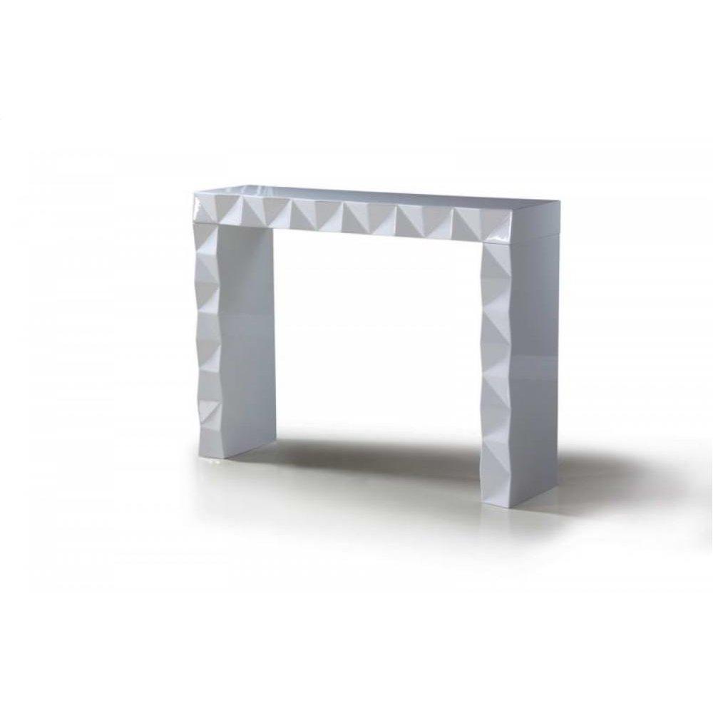 Versus Eva - White Lacquer Modern Console Table