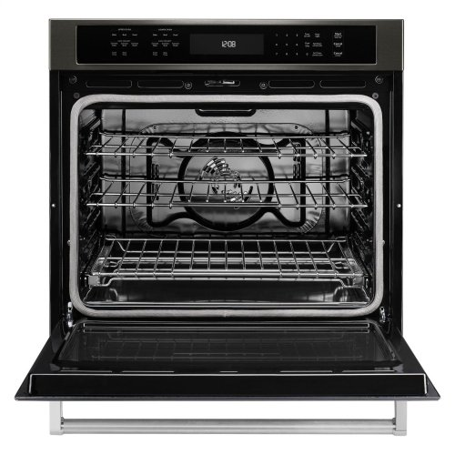 """30"""" Single Wall Oven with Even-Heat True Convection - Black Stainless Steel with PrintShield™ Finish"""