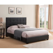 KEN66TBR Kenora Platform Bed - King, Black