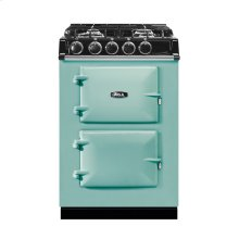 """AGA City 24"""" Electric/Natural Gas Pistachio with Stainless Steel trim"""