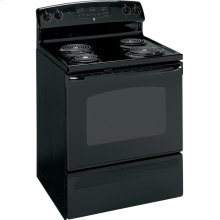 """GE® 30"""" Free-Standing Electric Range (This is a Stock Photo, actual unit (s) appearance may contain cosmetic blemishes.  Please call store if you would like actual pictures).  This unit carries our 6 month warranty, MANUFACTURER WARRANTY and REBATE NOT VALID with this item. ISI 31691"""
