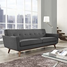 Engage Upholstered Fabric Sofa in Gray