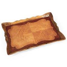 Satinwood Carved Rectangular Tray