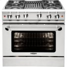 """36"""" Gas Convection Range with 4 Sealed Burners 19K BTU + 12"""" BBQ Product Image"""