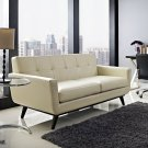 Engage Bonded Leather Loveseat in Beige Product Image
