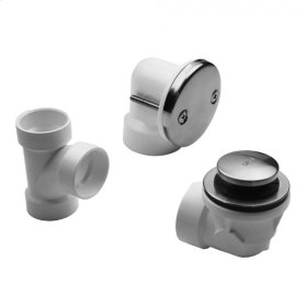White - Toe-Control Drain Strainer With Faceplate (Two Hole) Half Kit