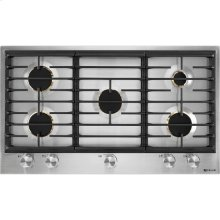 "Euro-Style 36"" 5-Burner Gas Cooktop, Stainless Steel"