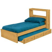 Bookcase Bed Set, Twin, extra-long
