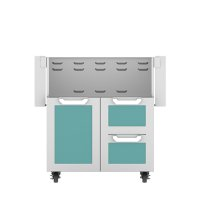"30"" Hestan Outdoor Tower Cart with Door/Drawer Combo - GCR Series - Bora-bora"