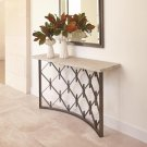 Sidney Console-Natural Iron w/Wood Plank Top Product Image