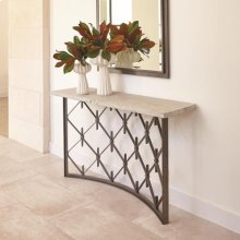 Sidney Console-Natural Iron w/Wood Plank Top