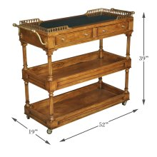 Capital Serving Cart, Fruitwood Finish