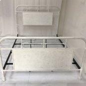 Queen Metal Bed - Antique White