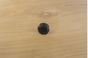 """Black 10 Pack 0.75"""" Round Decorative Nail Clavos Product Image"""