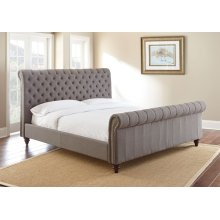 "Swanson Queen Gray Upholstered Headboard 67"" x53"" x10"""