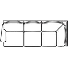 Left Facing Corner Sofa 7000 Series Selectionals Upholstery